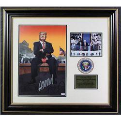 "Donald Trump Signed Signed ""Gun Control"" 26x29 Custom Framed Photo Display (PSA COA)"