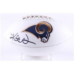 Kurt Warner Signed Rams Logo Football (Radtke COA  Warner Hologram)