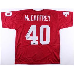 Ed McCaffrey Signed Stanford Cardinal Jersey Inscribed  1990 All American  (Radtke COA)