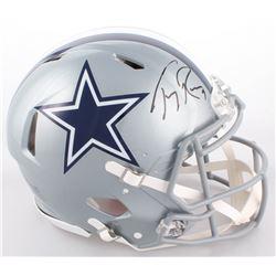 Tony Romo Signed Cowboys Full-Size Authentic On-Field Speed Helmet (JSA COA)