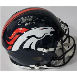 Terrell Davis Signed Broncos Full-Size Authentic On-Field Speed Helmet Inscribed  HOF 17  (Radtke CO