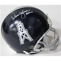 Warren Moon Signed Vikings Authentic On-Field Full-Size Helmet Inscribed  HOF 06  (Beckett COA)