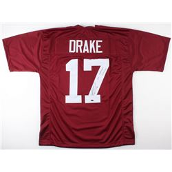 Kenyan Drake Signed Alabama Crimson Tide Jersey Inscribed  2x National Champs  (Schwartz COA)