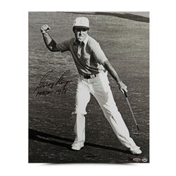 Gary Player Signed  Victory Celebration  16x20 Limited Edition Photo Inscribed  Masters 1978   (UDA