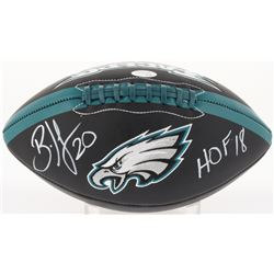 "Brian Dawkins Signed Eagles Logo Football Inscribed ""HOF '18"" (JSA COA)"
