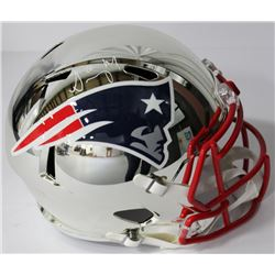 Sony Michel Signed Patriots Chrome Speed Full Size Helmet (Beckett COA)