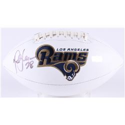 Marshall Faulk Signed Rams Logo Football (Radtke COA)