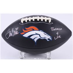 "Terrell Davis Signed Broncos Logo Football Inscribed ""Bronco 4 Life"" (Radtke COA)"
