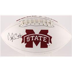Dak Prescott Signed Mississippi State Bulldogs Logo Football (Radtke COA  Prescott Hologram)