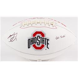 "Marshon Lattimore Signed Ohio State Buckeyes Logo Football Inscribed ""GO BUCKS!"" (Radtke COA  Lattim"