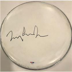 """Tommy Lee Jones Signed 12"""" Drum Head (PSA COA)"""
