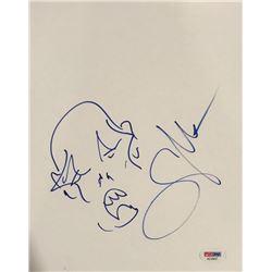 "Greg Nicotero Signed ""The Walking Dead"" 8x10 Hand-Drawn Sketch On Canvas Board (PSA COA)"