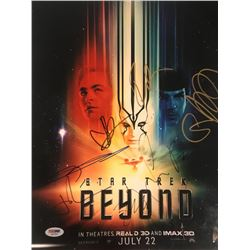"""""""Star Trek Beyond"""" 11x14 Photo Signed by (7) with J. J. Abrams, Sofia Boutella, Zachary Quinto, Simo"""