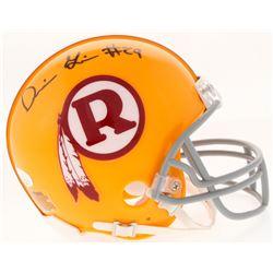 Derrius Guice Signed Throwback Redskins Mini Helmet (JSA COA)