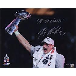 "Rob Gronkowski Signed Patriots 16x20 Photo Inscribed ""SB 49 Champs!"" (Steiner COA)"