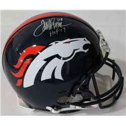 "Terrell Davis Signed Broncos Full-Size Authentic On-Field Helmet Inscribed ""HOF 17"" (Radtke COA)"