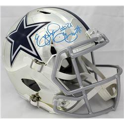 Ezekiel Elliott Signed Cowboys Chrome Full-Size Speed Helmet (Beckett COA)