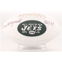 "Don Maynard Signed Jets Logo Football Inscribed ""HOF 87"" (Radtke COA)"