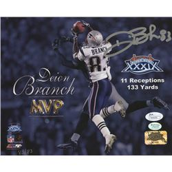 "Deion Branch Signed Patriots ""Super Bowl XXXIX MVP"" 8x10 Limited Edition Photo (JSA COA)"