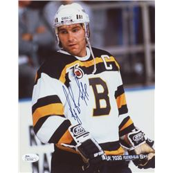 "Ray Bourque Signed ""Bruins 75th Anniversary"" 8x10 Photo (JSA COA)"