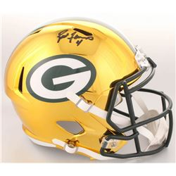 Brett Favre Signed Packers Full-Size Chrome Speed Helmet (Radkte COA)