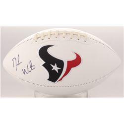 Deshaun Watson Signed Texans Logo Football (Beckett COA  Jackson Hologram)