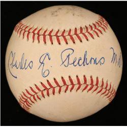 Charlie Pechous Signed ONL Baseball (JSA COA)