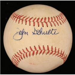 John Schulte Signed OAL Baseball (JSA COA)