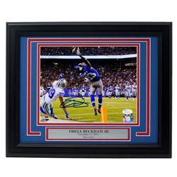 """Odell Beckham Jr. Signed New York Giants """"The Catch"""" 11x14 Custom Framed Photo (JSA COA)"""