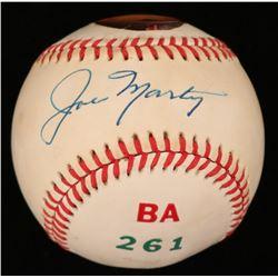 Joe Marty Signed ONL Baseball (JSA COA)