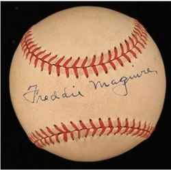 Freddie Maguire Signed ONL Baseball (JSA COA)