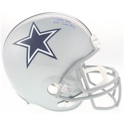 "Bob Lilly Signed Cowboys Full-Size Helmet Inscribed ""HOF 80""  ""Mr. Cowboy"" (Schwartz COA)"
