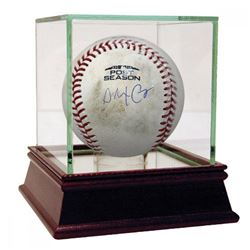 Alex Cora Signed Game-Used 2018 Postseason Baseball with High Quality Display Case (Steiner COA)