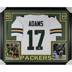 Davante Adams Signed Packers 35x43 Custom Framed Jersey (JSA COA)