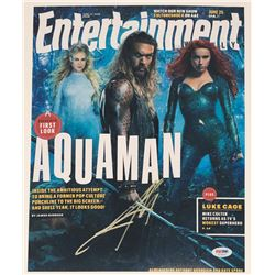 "Jason Momoa Signed ""Aquaman"" 11x14 Photo (PSA COA)"