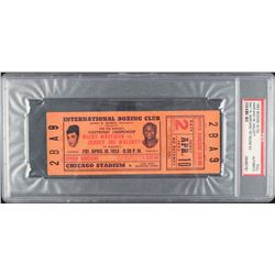 1953 Rocky Marciano vs. Joe Walcott Boxing Match Ticket (PSA Encapsulated)
