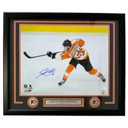 Shayne Gostisbehere Signed Edmonton Oilers 22x27 Custom Framed Photo Display (JSA COA)