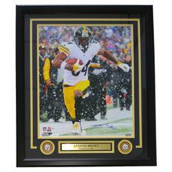 Antonio Brown Signed Pittsburgh Steelers 22x27 Custom Framed Photo Display (JSA COA)