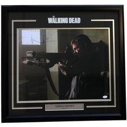 "Norman Reedus Signed ""The Walking Dead"" 22x27 Custom Framed Photo Display (JSA COA)"