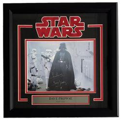 "Dave Prowse Signed ""Star Wars"" 16x17 Custom Framed Photo Display Inscribed ""Darth Vader"" (Steiner CO"