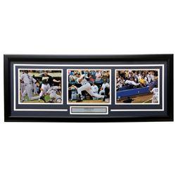 Derek Jeter New York Yankees 18x34 Custom Framed Photo Display