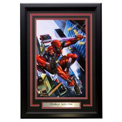 "Greg Horn Signed ""Deadpool: Spidey Pose"" 11x17 Custom Framed Lithograph (Sports Integrity COA)"
