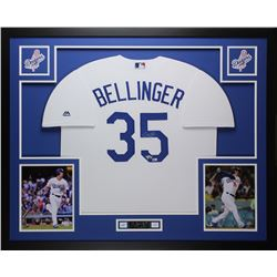 Cody Bellinger Signed Dodgers 35x43 Custom Framed Jersey (Fanatics  MLB Hologram)