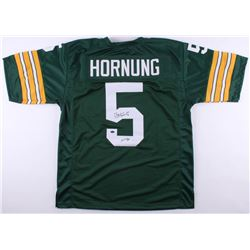 "Paul Hornung Signed Green Bay Packers Jersey Inscribed ""HOF 86"" (Schwartz COA)"