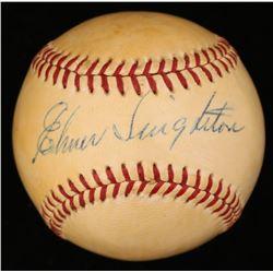 Elmer Singleton Signed ONL Baseball (JSA COA)