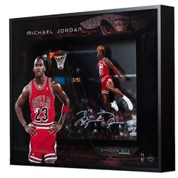 "Michael Jordan Signed ""1988 Gatorade Slam"" 16x20x2 Custom Framed Shadowbox Display (UDA COA)"