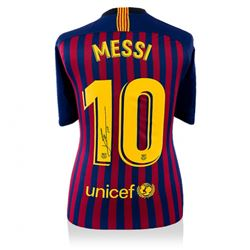 Lionel Messi Signed 2018-19 Barcelona Home Jersey (Icons COA)
