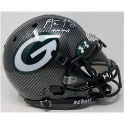 Aaron Rodgers Signed Packers LE Custom Hydro Dipped Grey Full-Size Authentic On-Field Helmet Inscrib