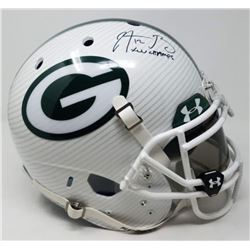 Aaron Rodgers Signed Packers LE Custom Hydro Dipped White Full-Size Authentic On-Field Helmet Inscri