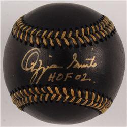 "Ozzie Smith Signed OML Black Leather Baseball Inscribed ""HOF '02"" (JSA COA)"